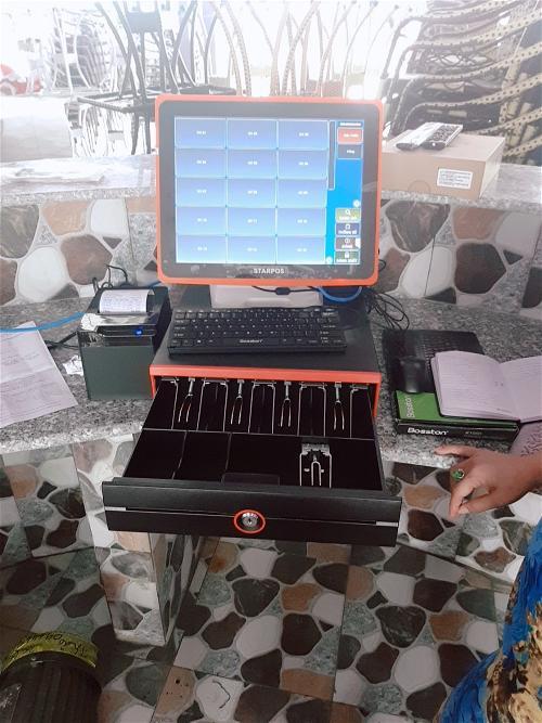 Trọn bộ máy cảm ứng tính tiền cho quán Cafe tại Nha Trang